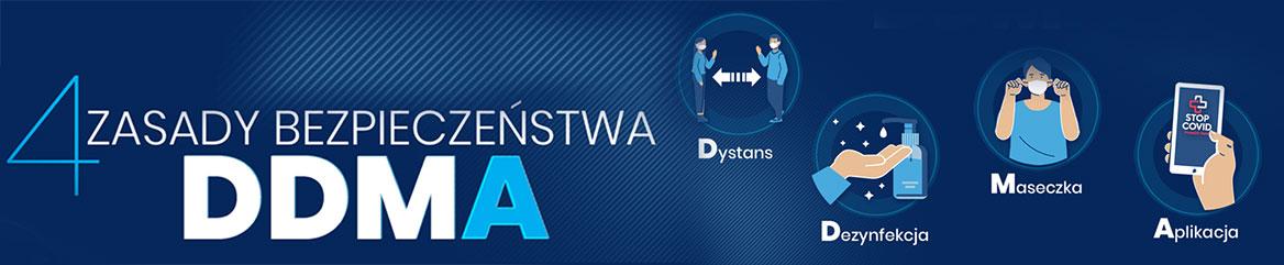 banner programu DDMA Cztery kroki w walce z pandemią
